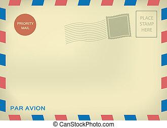 avion, パー, 封筒, 郵便物