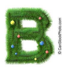 b, ブランチ, 木, 作られた, 手紙, クリスマス