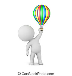 balloon, 特徴, 空気, 暑い, 小さい, 3d