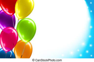 balloon, birthday, 背景