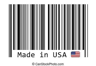barcode, 作られた, アメリカ, ラベル