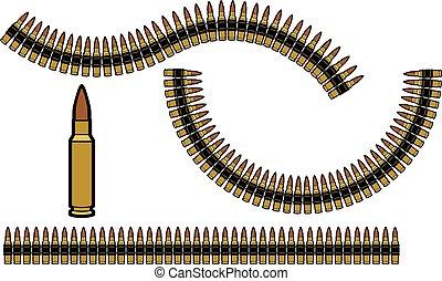 belts), (gun, 銃弾, ベルト