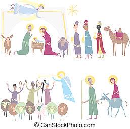 bethlehem., nativity, 星