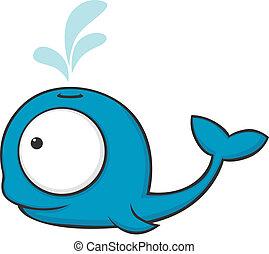 big-eyed, クジラ