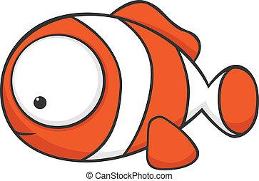big-eyed, clownfish