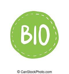 bio, グランジ, パーセント, 切手, イラスト, ゴム, ベクトル, 自然, 100