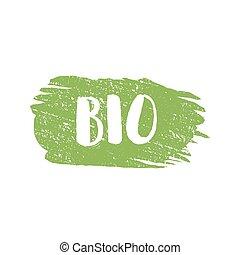 bio, グランジ, 切手, イラスト, ゴム, ベクトル, 自然