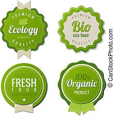 bio, セット, eco, 型, ラベル, テンプレート