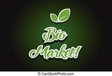 bio, テキスト, デザイン, ロゴ, 市場, アイコン