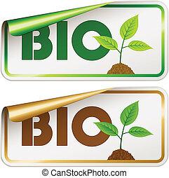 bio, ベクトル, ステッカー