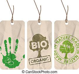 bio, 有機体である, タグ, eco, /, グランジ