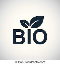 bio, 概念, 平ら, 単純である, 要素, デザイン, アイコン