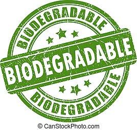 biodegradable, 切手, ゴム