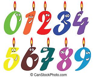 birthday, set., 蝋燭