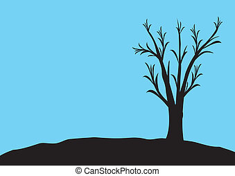 blck, 青, 木, 背景