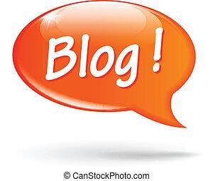 blog, スピーチ, ベクトル, 泡