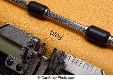 blog, テキスト, タイプライター