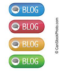 blog, ボタン