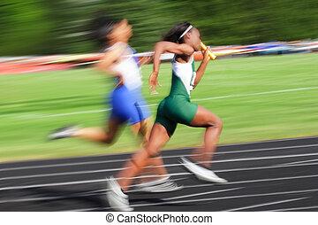 blur), リレー, (motion, レース