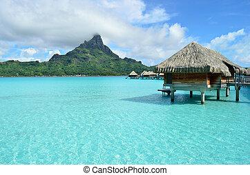 bora, リゾート, 休暇, overwater, 贅沢