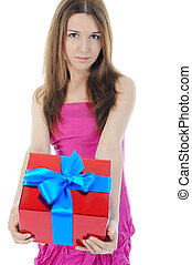 box., ブルネット, 贈り物, 魅了