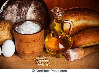 bread, べーキング, まだ生命
