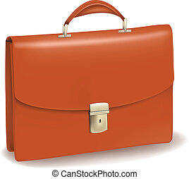 briefcase., ビジネス, ブラウン
