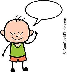 bubbble, 漫画, スピーチ, はげ, 男の子