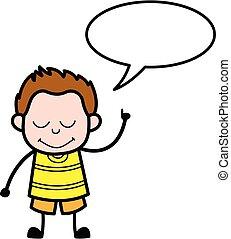 bubbble, 漫画, スピーチ, 若い少年