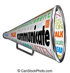 bullhorn, コミュニケートしなさい, メガホン, 広がり, 単語