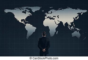businessman., concept., 財政, オフィス, ビジネス