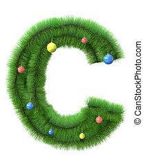 c, 作られた, ブランチ, 木, 手紙, クリスマス