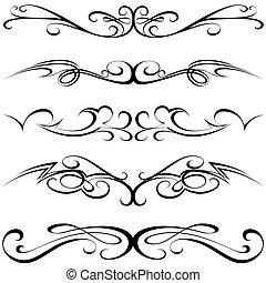 calligraphic, 入れ墨