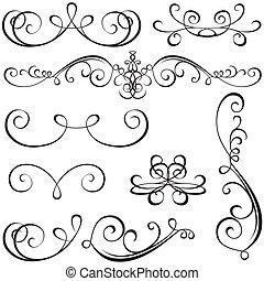 calligraphic, 要素