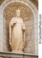 cana, カトリック教, イスラエル, 教会, 結婚式, ファサド, 彫刻