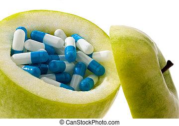 capsules., タブレット, アップル