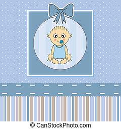card., 赤ん坊, 発表, 男の子, 到着