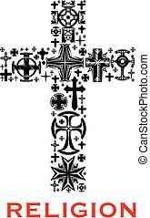 celt, 宗教, キリスト教徒, 交差点, シンボル