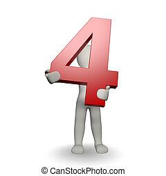 charcter, 保有物, ナンバー4, 人間, 3d