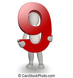 charcter, 保有物, ナンバー9, 人間, 3d