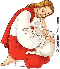 christ., 羊飼い, 寓話, よい, 救助, 失われた, sheep., 捕えられた, 隔離された, イエス・キリスト, 子羊, とげ, 白, 歴史