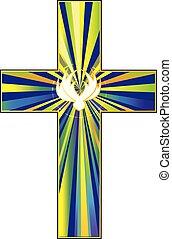 christ's, シンボル, 鳩, 交差点, 復活