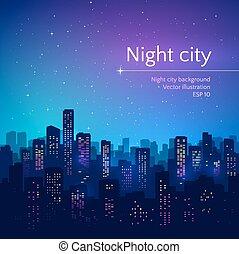 city., 夜