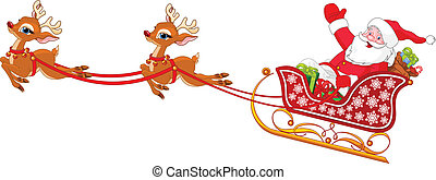 claus, そりで滑べりなさい, santa