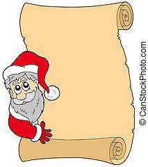 claus, 羊皮紙, santa, 潜む
