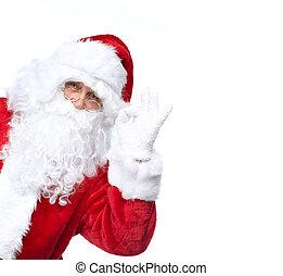 claus, 隔離された, santa, white.