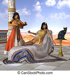 cleopatra, エジプト人