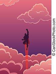 cloudscape, superhero