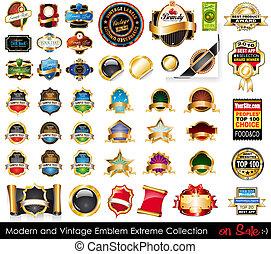 collection., 紋章, 極点, 現代, 型
