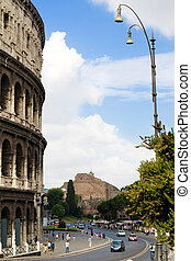 colosseo, イタリア, ローマ